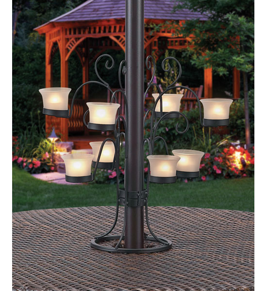 Superb Patio Umbrella Eight Votive Candle Holder Image