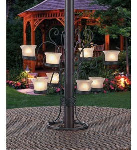 Patio Umbrella Eight Votive Candle Holder Image