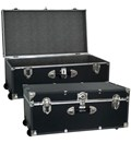 Collegiate Wheeled Storage Trunk - Black