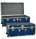 Collegiate Wheeled Storage Trunk - Blue