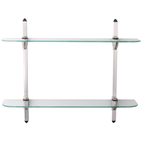 5 x 24 glass display double shelf kit in wall mounted shelves. Black Bedroom Furniture Sets. Home Design Ideas
