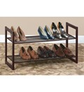 Two-Tier Shoe Rack - Bronze