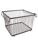 York Stackable Wire Pantry Basket - Bronze