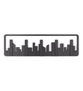 City Skyline Wall Hooks - Black Image