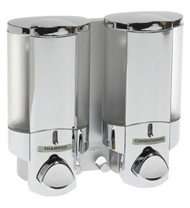 Aviva Two Chamber Dispenser - Chrome Image
