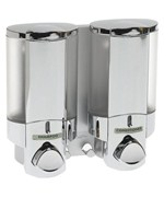 Aviva Two Chamber Dispenser - Chrome