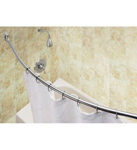 Curved Shower Rod - Brushed Stainless Steel Image