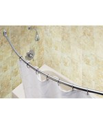Curved Shower Rod - Brushed Stainless Steel