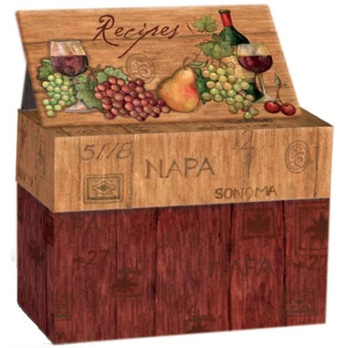 Recipe Cards And Box Recipe Card Box Napa Valley