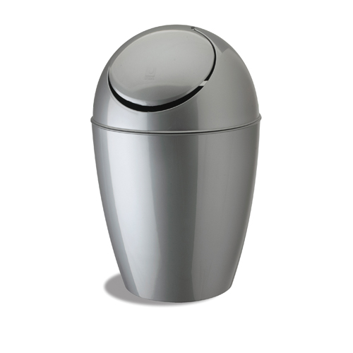 umbra small sway trash can silver image