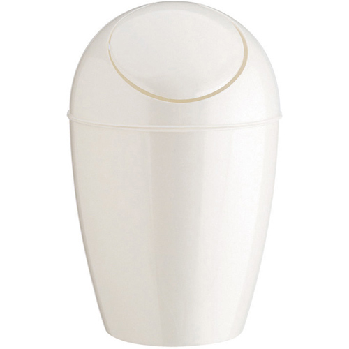 White Bathroom Garbage Cans umbra plastic trash can with lid - white in small trash cans