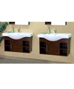 79.6 Inch Double Wall Mount Style Cubby Sink Vanity Wood by Bellaterra Home