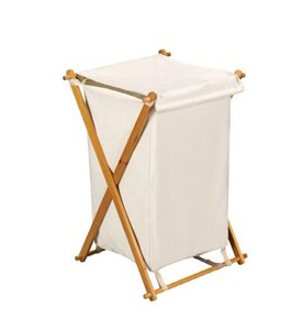 Folding Wood Hamper Image