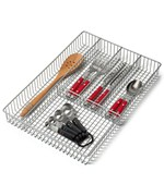 Large Grid Flatware Organizer - Nickel