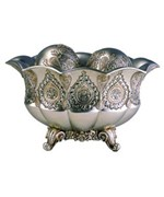 7 Inch H Traditional Royal Silver and Gold Metalic Decorative Bowl with Spheres by O.R.E.