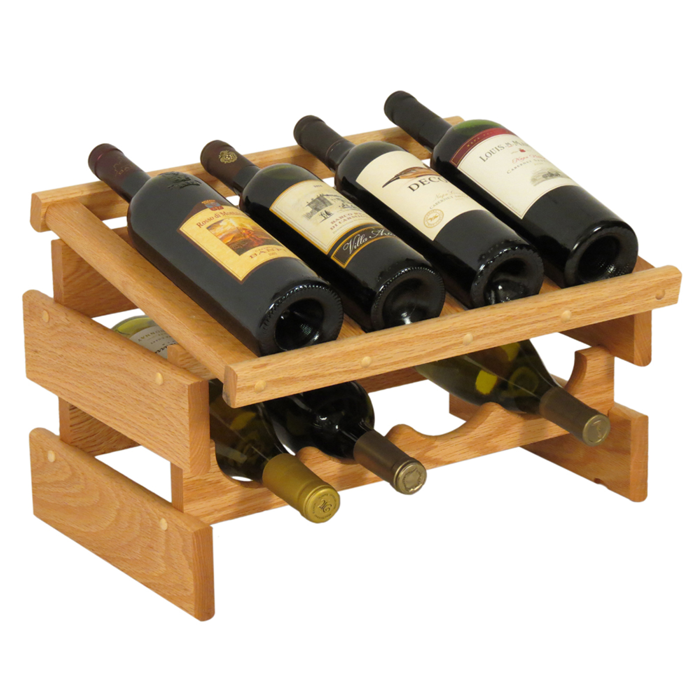 stand wooden racks double wine olive two wood rack bottle