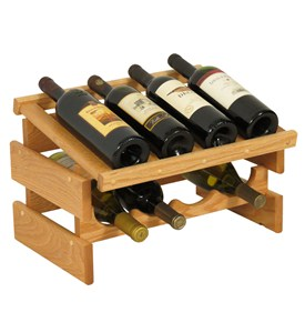 Wood Wine Rack - 8 Bottle Display Image