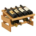 Wood Wine Rack - 8 Bottle Display