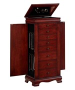 8 Drawer Jewelry Armoire - Locking