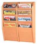 Wooden Magazine Rack - Oak