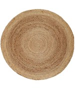 8' Round Kerala Jute Rug by Anji Mountain