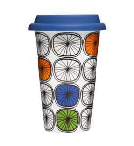 8.5 Ounce Ceramic Travel Cup - Wheels Image