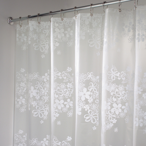 eva vinyl shower curtain fiore in shower curtains and rings