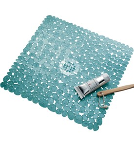 InterDesign Shower Mat - Blue Image