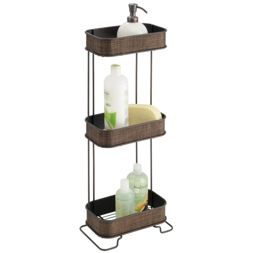 Three tier bath caddy bronze in shower caddies - Etagere salle de bain bois ...