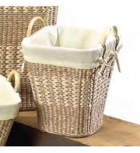 Small Woven Waste Basket Image