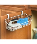 White Over The Cabinet Wire Basket