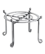 Large Serving Stand and Plate Holder - Chrome