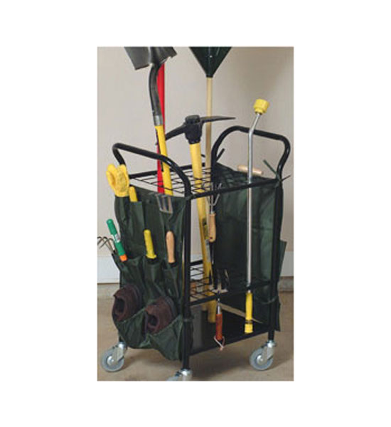 yard tool gardening cart in garden tool storage