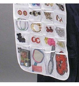 Hanging 80-Pocket Vinyl Jewelry Organizer Image