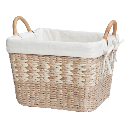 The Large Woven Storage Basket is a great option for adding storage space to your home. Simply place this basket in your hallway c loset, bedroom closet, in your stairwell or any other room.