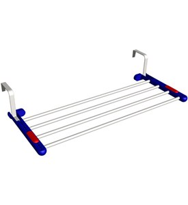 Adjustable Over the Door Drying Rack Image