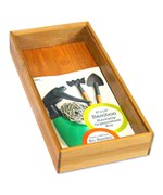 Bamboo Stackable Organization Box - 6x12 Inch