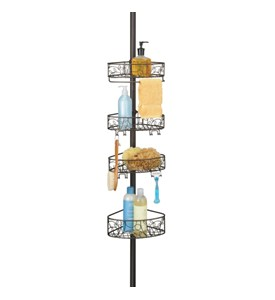 Tension Pole Shower Caddy - Bronze Image