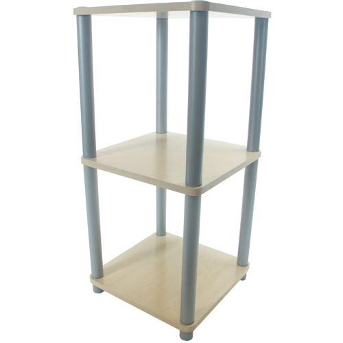Three Tier Contemporary Free Standing Shelf In Free