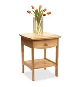 Curved Night Stand - Natural Image