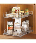 Slide-Out Cabinet Organizer Basket - Silver