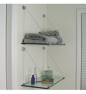 Cable Brackets and Glass Shelf Kit - 8 x 24 Image
