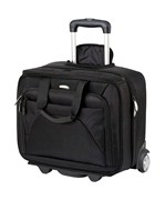 Quick Pass Rolling Laptop Case - Black