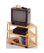 Derby Corner TV Table- Natural