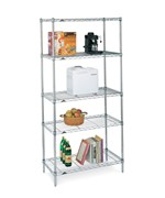 InterMetro Five Shelf Rack