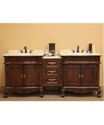 84.9 Inch Double Sink Vanity with Bridge by Bellaterra Home