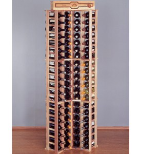 84 Bottle Redwood Corner Wine Rack Image