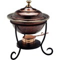Round Stainless Chafing Dish - Antique Copper