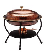 Old Dutch Chafing Dish - Antique Copper