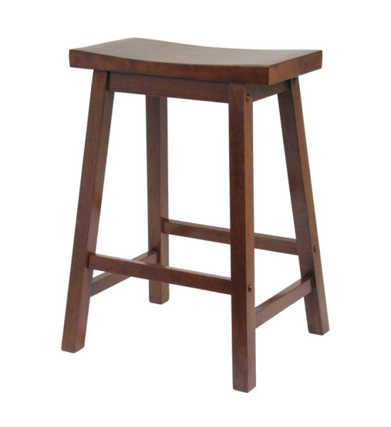24 inch saddle bar stool antique walnut in counter for 24 inch bar stools